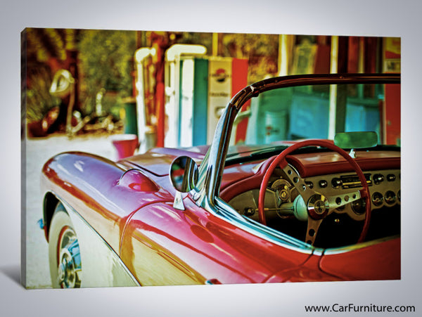 Classic Chevy Corvette Canvas Art