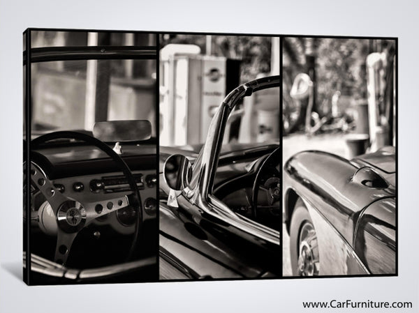 Classic Chevy Corvette Details Canvas Art