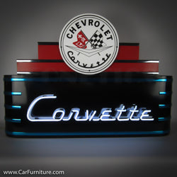 Marquee Chevrolet Corvette Neon Deco Sign