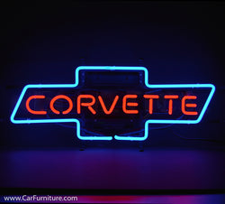 Chevrolet Corvette Neon Sign with Backing