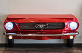 Ford Red Console Table Entertainment Center Front Bumper Close Up www.CarFurniture.com