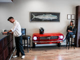 Ford Red Console Table Entertainment Center Front Bumper Bar www.CarFurniture.com