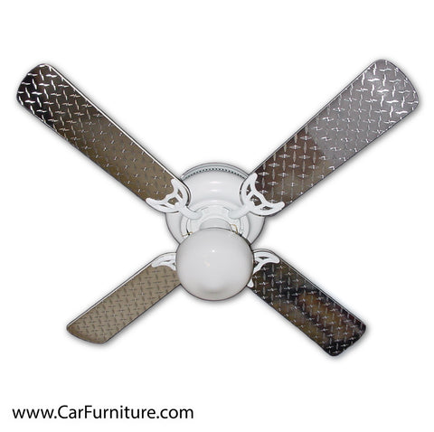 Diamond-Plate Automotive Ceiling Fan