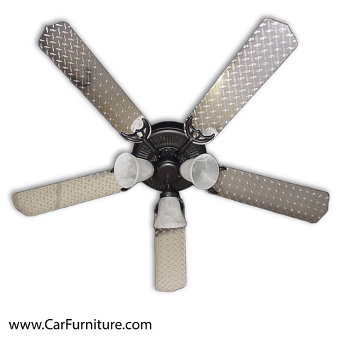 Diamond-Plate Automotive Ceiling Fan 52""