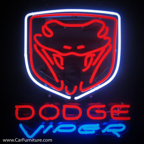 Dodge Viper Neon Sign with Backing