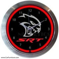 Dodge Hellcat SRT Neon Clock