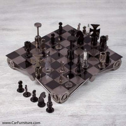 Reclaimed Auto Part Chess Set (Elevated)