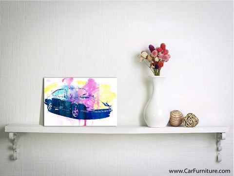 Emergency Watercolor Canvas Art