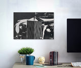 England's Best Modern Brushed Canvas Art