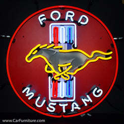Ford Mustang Neon Sign with Backing