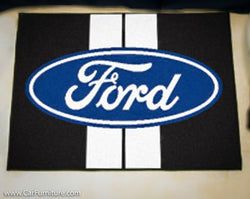 "Ford Racing Stripes 19X30"" Rug"