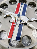Tri-Stripe Ford Mustang Engine Timing Gear Wall Clock