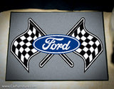 "Ford Racing Flag 19X30"" Rug"
