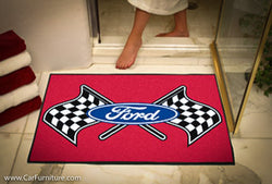 Ford Racing Flag 33.75 x 42.5 Inch Bath Mat