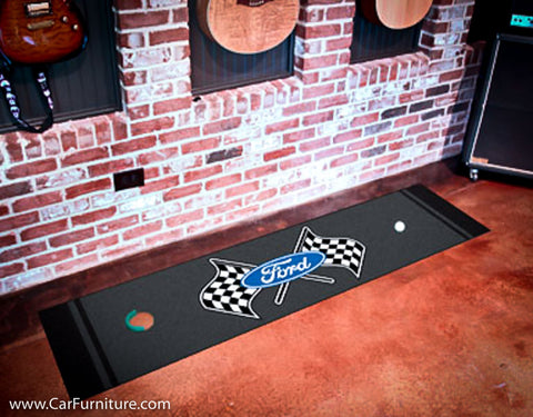 "Ford Racing Flags 18x72"" Putting Mat"