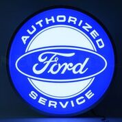 Ford Authorized Service Backlit LED Lighted Sign