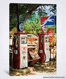 Gas Station on U.S. Route 66 Canvas Print