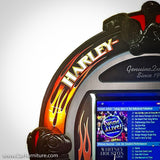 HARLEY-DAVIDSON BUBBLER MUSIC CENTER JUKEBOX - BRUSHED ALUMINUM
