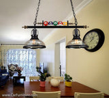 Industrial Vintage Edison Bulb Billiard Chandelier Pendant Light