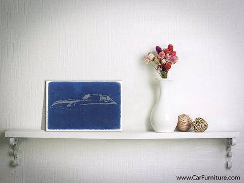 Jaguar E-Type Watercolor Canvas Art