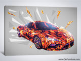 Light Speed Car Canvas Art