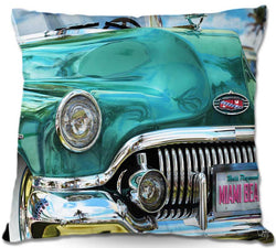 Teal-1951-Buick-Roadmaster-on-Miami-Beach-Retro-Art-Home-Decor-Tropical-Classic-Car-Throw-Pillow-www.CarFurniture.com
