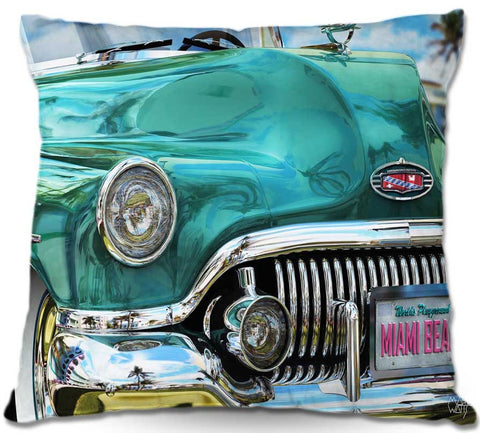 Miami Cruisin' Throw Pillow