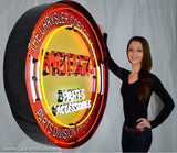Mopar Large Red Neon Sign in Steel Can