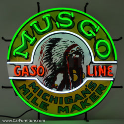 Musgo Gasoline Neon Sign with Backing