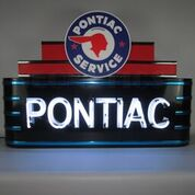 Marquee Pontiac Neon Sign