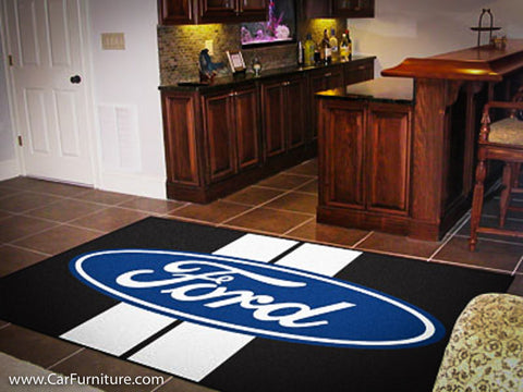 Ford Racing Stripe 5X8' Rug