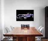 Purple Cruiser Modern Brushed Aluminum Canvas Art