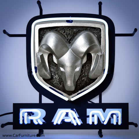 Dodge Ram Mini Neon Sign with Backing