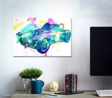 Retro Coupe Splatter Canvas Art