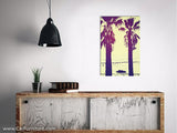Retro Palms Beach Car Canvas Art