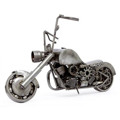 Real Car Part Created Vintage Motorcycle