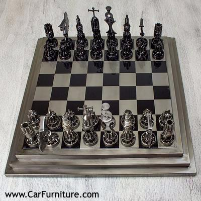 Specialty Auto Part Chess Set www.CarFurniture.com