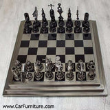 Reclaimed Auto Part Chess Set