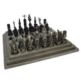 Upcycled Engine Car Part Chess Set Men's Gift www.CarFurniture.com