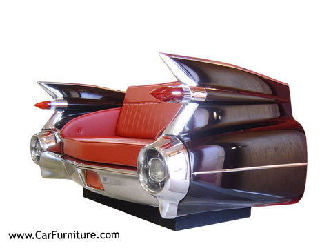 1959-Cadillac-Rear-End-Vintage-Retro-Sofa-Couch-Specialty-Furniture-Decor-www.CarFurniture.com