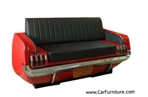 Red-1965-Ford-Mustang-Front-End-Retro-Vintage-Couch-Sofa-Decor-www.CarFurniture.com