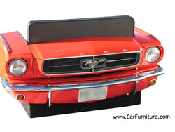 Red-1965-Ford-Mustang-Car-Front-Retro-Vintage-Couch-Sofa-Decor-www.CarFurniture.com