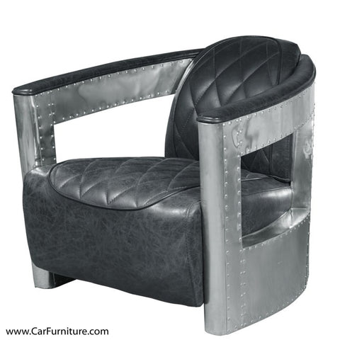 Riveted Aluminum Wrapped Arm Chair