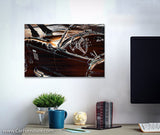 Chrome Sting Ray Canvas Art