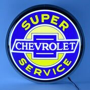 Super Chevrolet Service Backlit LED Lighted Sign