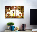 VW Buggy 53 Woodgrain Retro Canvas Art
