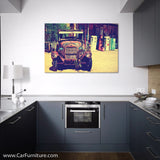 Vintage Ford at Route 66 Canvas Art