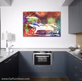 Vintage Multicolor X Wing Retro Canvas Art