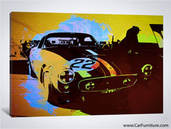 Watercolor Ferrari Canvas Art