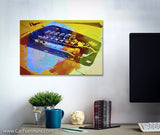 Watercolor Ferrari Engine Canvas Art